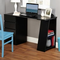 Walmart: TMS Dawson Writing Desk with Shelf and Drawers, Black