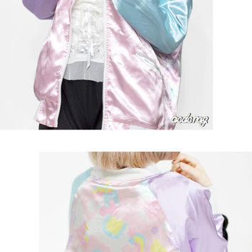 YuMe cute cakes Cajun Unicorn pastel ryuko jacket Yume know Hara-Juku system blue character series fashion men's women's unisex subculture General cute fashion ACDC ACDCRAG