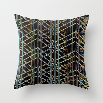 Abstract Design 1 Throw Pillow by Claude Gariepy