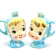 Vintage Napco Miss Cutie Pie Salt and Pepper Shakers, Spring Table, Collectible, Napco, Lefton, 1950s Kitsch,Epsteam