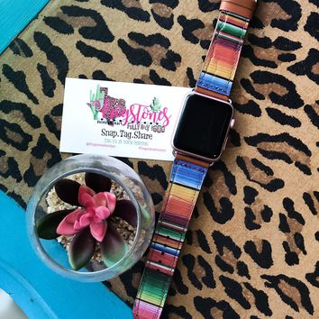 Serape Leather Apple Watch Bands