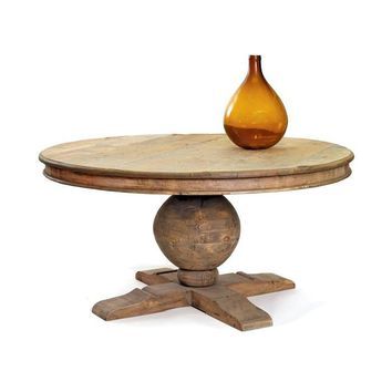 Winchester Round Dining Table Reclaimed Wood 60""