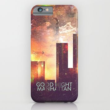 Good night Manhattan iPhone & iPod Case by HappyMelvin