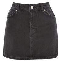 MOTO Black Denim Mini Skirt | Topshop