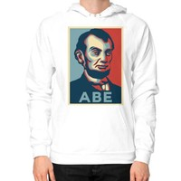 """ABE Lincoln ""Hope"" Design"" Hoodie (on man)"