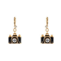 Camera Drop Earrings - Betsey Johnson