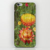 Flowers On Wood. iPhone & iPod Skin by Robert Gipson