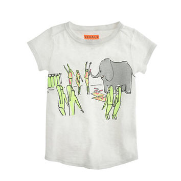 Girls Donald Robertson For crewcuts Drawing Elephant T-Shirt