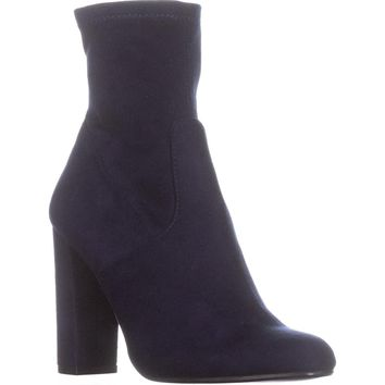 Steve Madden Brisk Stretch Ankle Booties, Navy, 6 US