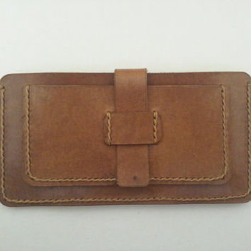 iPhone 6 Case Vegetable Tanned Italian Leather Handmade Sleeve Wallet with Exclusive Color Card Holder 100% Natural
