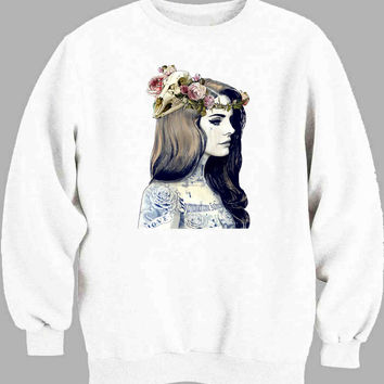 Lana Del Rey Tattooed Sweater for Mens Sweater and Womens Sweater *