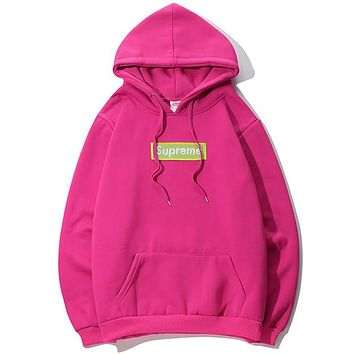 Supreme Women or Men Fashion Casual  Top Sweater Hoodie