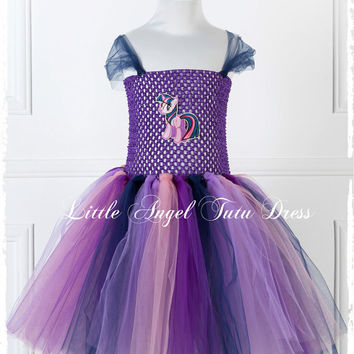 Twilight Sparkle My Little Pony Tutu Dress - Handmade Fancy Dress Costume - Christmas Gift - Age 2 3 4 5 6 7 8 9 10 11