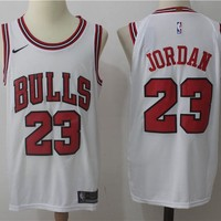 Best Deal Online NBA Authentic Basketball Player Jerseys Chicago Bulls  # 23 Michael Jordan White