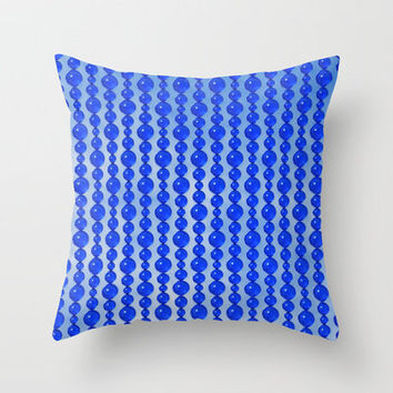 Bead Pattern, Blue on Blue Throw Pillow by Lyle Hatch | Society6