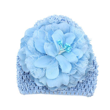 Sweet Baby Kids Girls Flower Knitted Crochet Beanie Toddler Hat Cap PL1 SM6