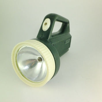 Vintage Flashight Lantern White and Green Light Flashlight Lamp Lantern With Handle