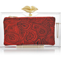 Charlotte Olympia - Lippy Pandora Perspex clutch