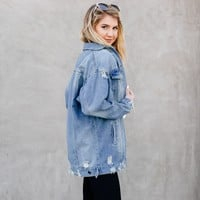 Demi Distressed Denim Jacket