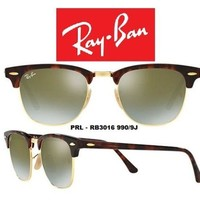 Cheap Ray-Ban Sunglasses RB3016 990/9J Clubmaster Flash Green Gradient Len Authentic outlet
