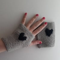 Beige,Knitted gloves, hand knitted, knitted, gloves,medium size,Promotion!  Season Discount! Coupon code: NOELSALE
