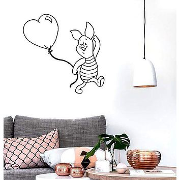 Wall Stickers Vinyl Decal Winnie The Pooh Cartoon Excellent Baby Room (ig1040)