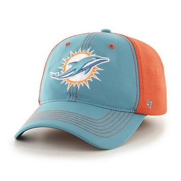 Miami Dolphins Reversal Team Color Closer Flex Fit Hat by 47 Brand'