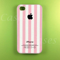 Pink Stripe w/ Apple Logo Iphone 4s Case