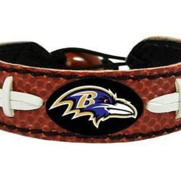 Baltimore Ravens NFL Classic Football Leather Bracelet