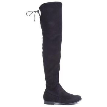Chinese Laundry Rainey   Black Suede Over The Knee Boot