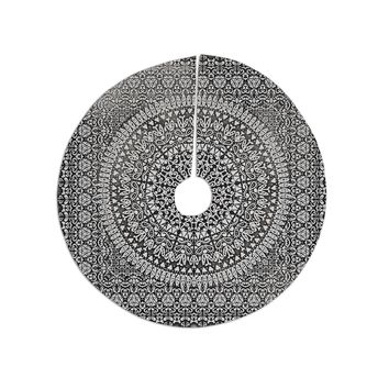 "Nika Martinez ""Mandala Bandana"" Black Abstract Tree Skirt"