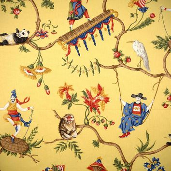 Scalamandre Fabric 16291-003 Ming Circus Multi On Pollen