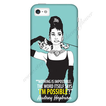 Audrey Hepburn Quote Mobile Cell Phone Case iPhone 3 3GS 4 4S 5 5S 5C Samsung Galaxy S2 S3 S4 Mini S5 Sony Xperia Z HTC