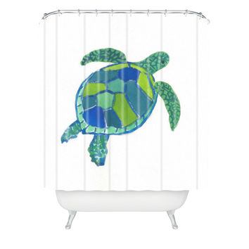 Laura Trevey Sea Turtle Shower Curtain