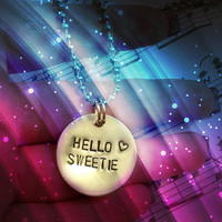 Hello Sweetie - River Song, Doctor Who Necklace