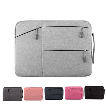 Portable Zipper Laptop Sleeve Case for Laptop Macbook HP ACER IBM 12 13.3 14 15.6inch