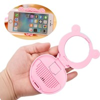 multi-function hello Kitty Cat Women's Pocket Mirror/Mobile phone holder Cartoon Makeup Mirrors+Comb Portable Cosmetic tools