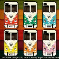 CHOOSE YOUR FAVORITE COLOR OF VW MINIBUS CASE FOR IPHONE 44S5 Samsung S234 by pfcase on Zibbet