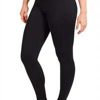 Plus Size - Legging With Fabric - Black