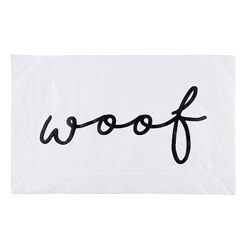Woof Appetit Tyvek Pet Mat | Wipe Clean Mat for Under Dog Food Bowl