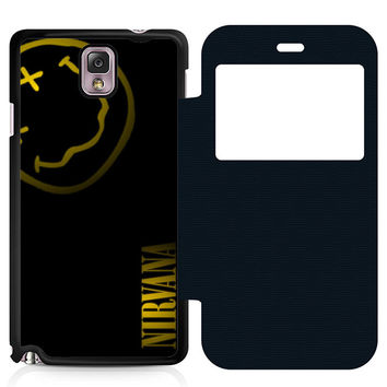 Nirvana Art Leather Wallet Flip Case Samsung Galaxy Note 3
