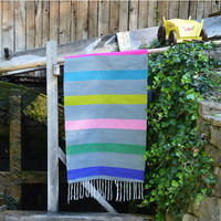 Striped rug, handwoven colorful rug, striped grey rug, natural wool rug, handwoven wool rug runner