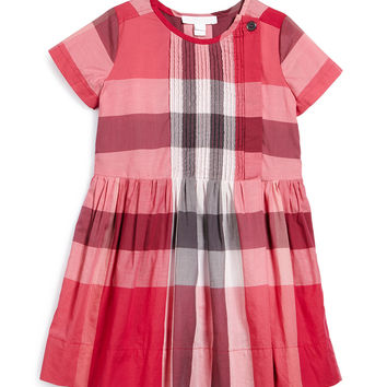 Nieve Check-Print Poplin Dress, Size 4-14,