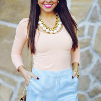 Flirting With A Fashionista Top: Pale Peach | Hope's
