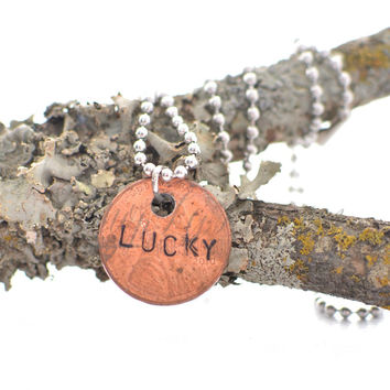 """Lucky"" Penny Necklace"