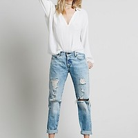 Levi s Vintage Denim Womens Levi's 505 Customised Boyfriend Destroyed