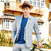 Blazer England Style Plaid Stylish Slim Casual Suits Jacket [7951201411]