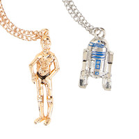 Star Wars C-3PO & R2-D2 Necklace Set