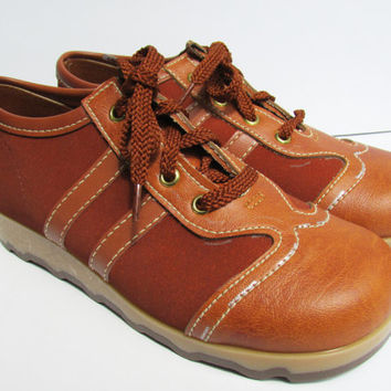Vintage 70s Sneakers Leather Suede