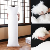 100% FEATHER FABRIC Fill Long Body Hug Hugging Pillow Bed Cushion Pad Anime Rectangle Sleep Nap Pillow Soft Insert Filler Core